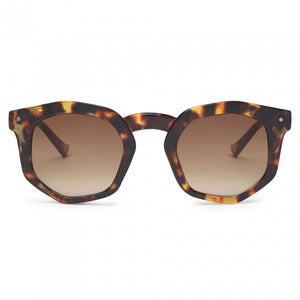 Audrey Tortoise Shell Hexagonal Sunglasses