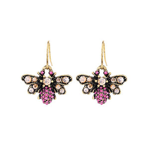 Polly Pink Bee Earring