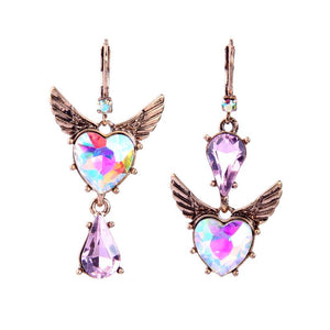 Angel Wings Heart Earring