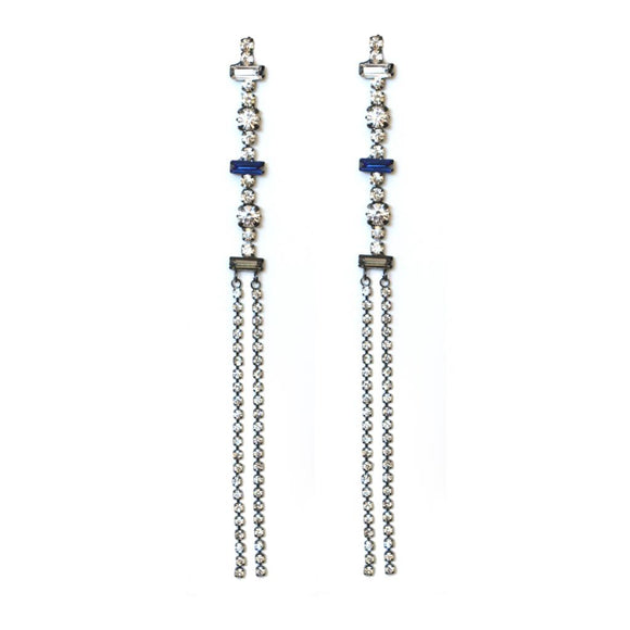 Drop Crystal Line Earring