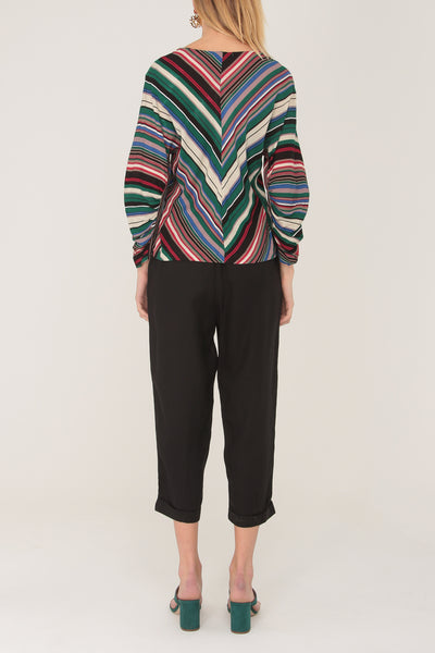 Shannon Stripe Top Green