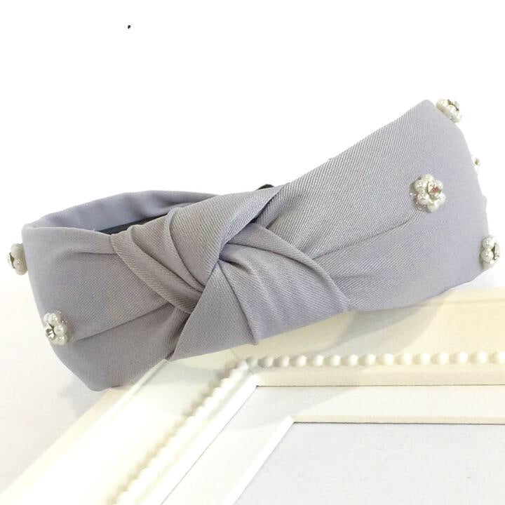 Light Grey Turban Headband