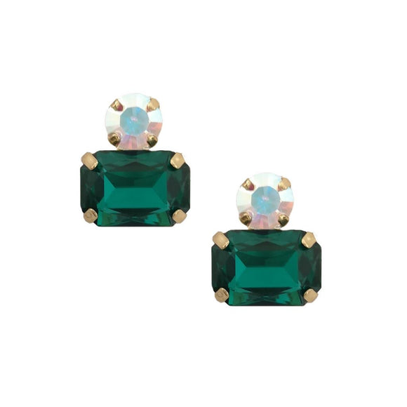Piper Emerald Twin Gem Earring