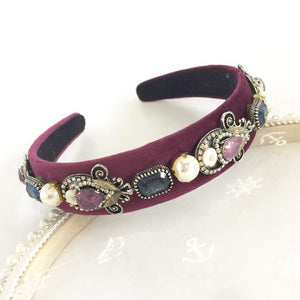 Burgundy Embellished Crown