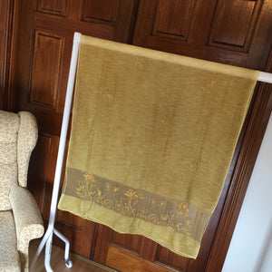 Mustard Silk and Wool Wrap