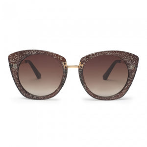 Julieta Oversized Glitter Sunglasses