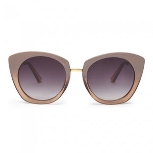 Julieta Oversized Beige Bicolour Sunglasses