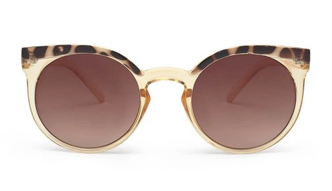 Lady in Satin Sunglasses Beige / Tortoise