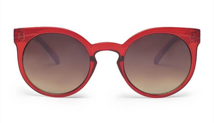 Lady in Satin Sunglasses Satin Ruby