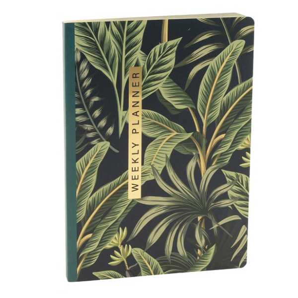 Leaf Print Any Year A5 Planner Notebook