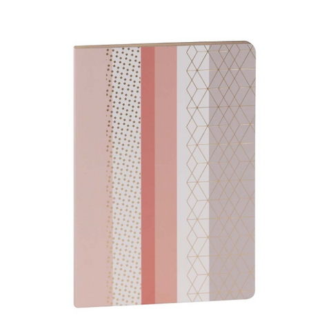 Pink Stripes Any Year A5 Planner Notebook