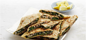 Isabelle's recipe of the month. Rosé with Spinach and cheese Gozleme
