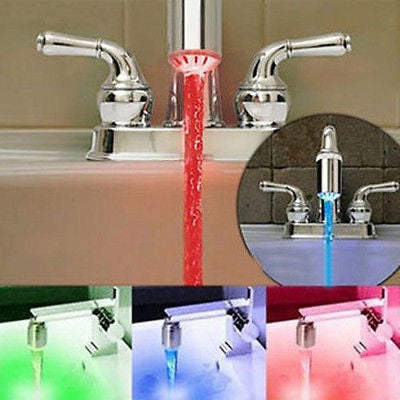 water faucet tap Hot 3 Color Sensor LED Light - Metfine