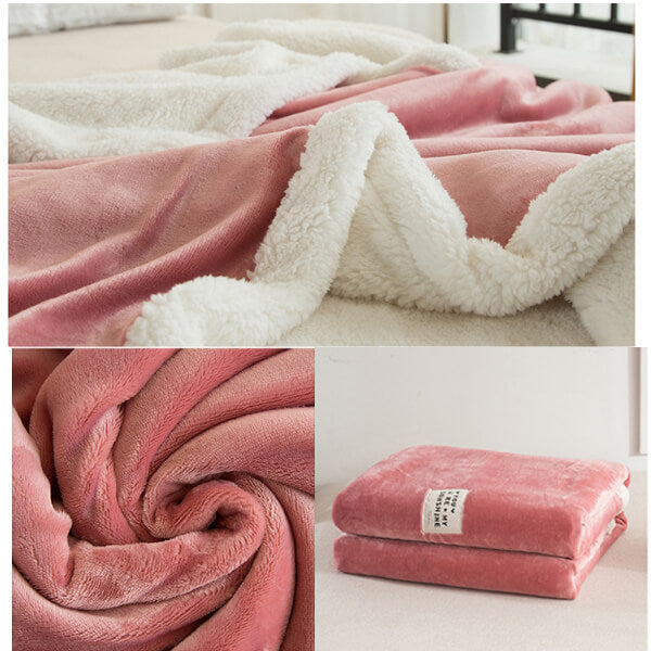 Sherpa Fleece Throw Blanket | Fuzzy Throw Blanket - Metfine