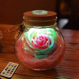Bloom - LED Rose Bottle Lamp - Metfine