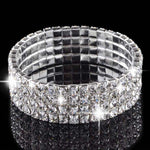 Rhinestone bracelet bangle bling wedding bridal crystal diamante 1 piece - Metfine
