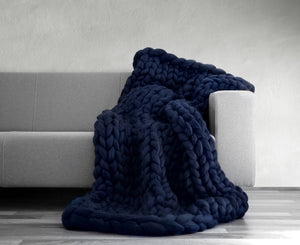 chunky yarn blanket | thick knit blanket - Metfine