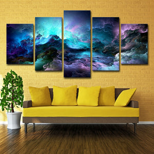 Canvas Painting Wall Art Psychedelic nebula - Metfine