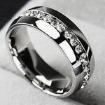 Ring unisex rhinestone engagement wedding - Metfine