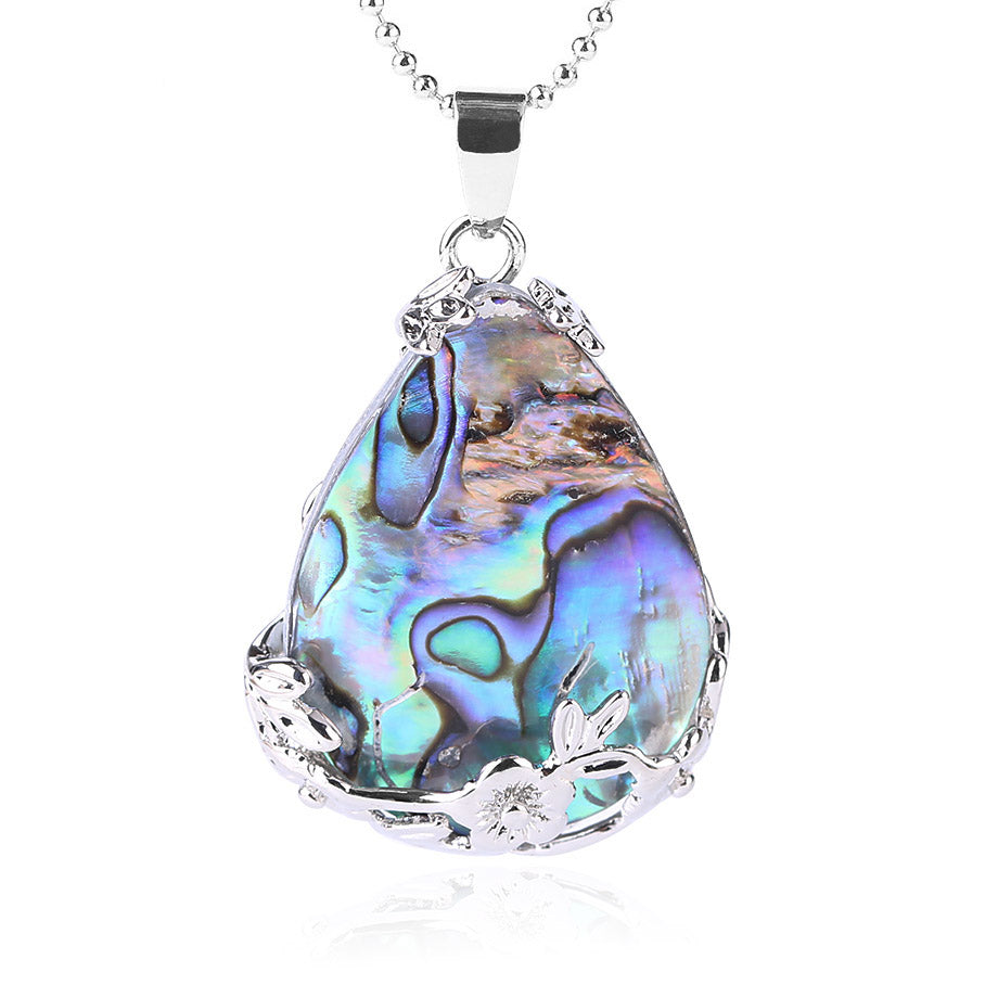 abalone shell necklace | abalone pendant - Metfine