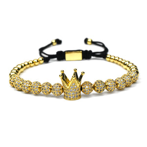 Crown Macrame beads Bracelets for women - Metfine