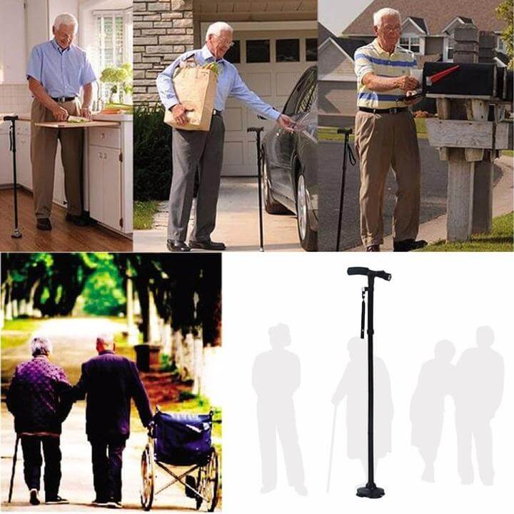Walking Stick Folding Cane - Metfine