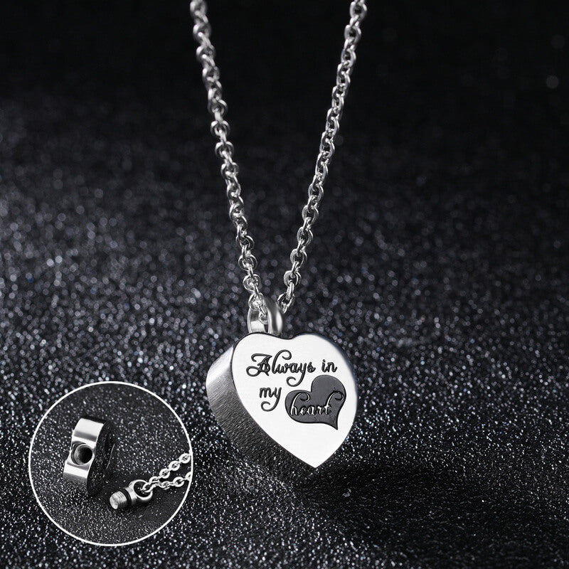 Cremation Jewelry Urn Necklace for Ashes I Used to be his Angle,Now He's Mine Stainless Steel Memorial Pendant