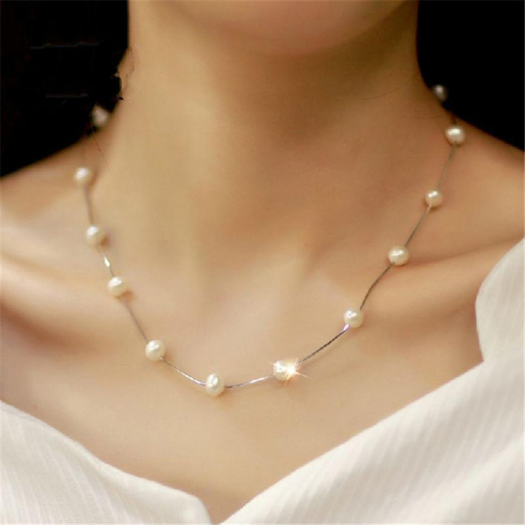 Necklace short jewelry women's party one layer chain - Metfine