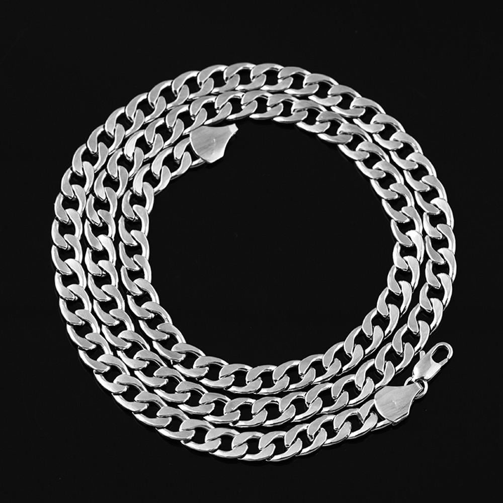 Necklace link jewelry women's men's wedding - Metfine
