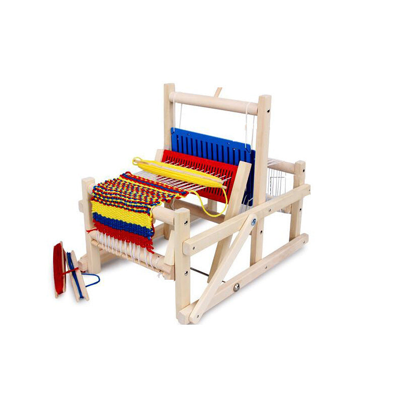 Kids Wooden Weaving Loom Simulation Educational Toy - Metfine