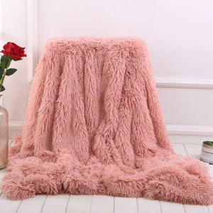 Faux fur blanket | Faux fur throw blanket - Metfine