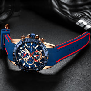 Men's silicone sport wristwatch - Metfine