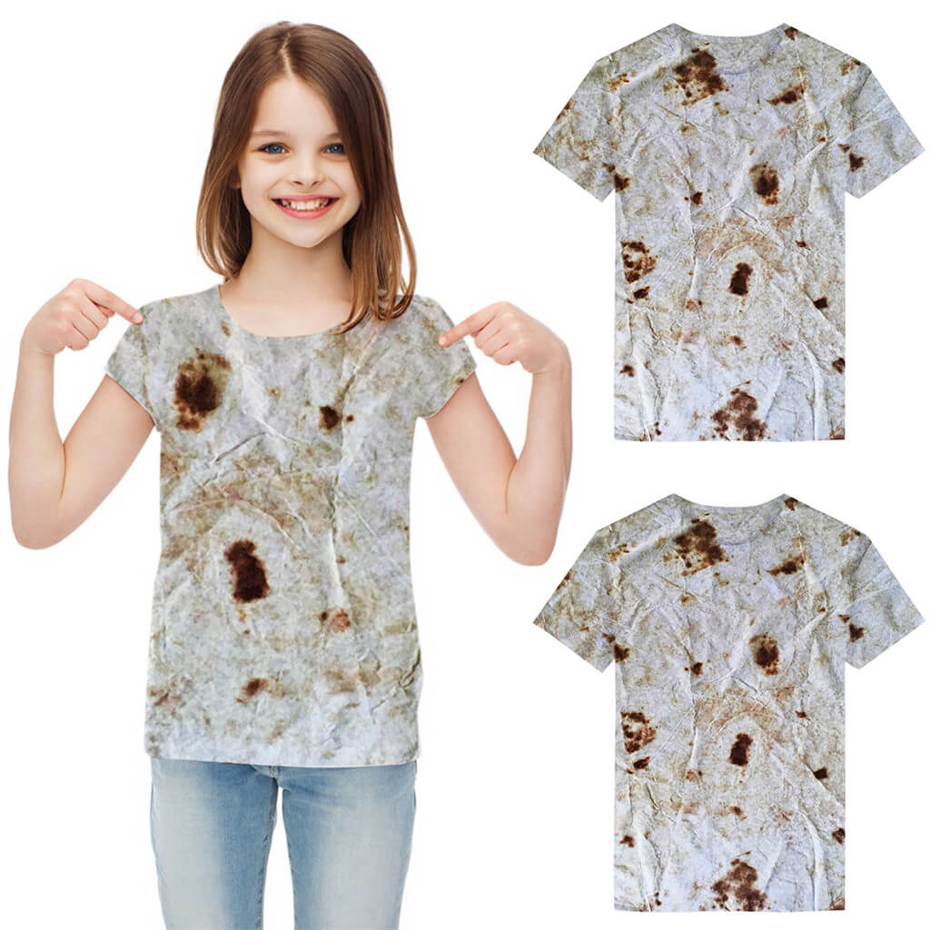 Toddler Baby Clothes Girls Boys Burrito Tops Short Sleeve Print Tortilla T-Shirt Baby Mexican Pancake Tops Tee For Summer 2019 - Metfine