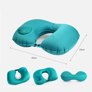Inflatable travel neck pillow | Neck Inflatable Pillow | best travel pillow | U-Shape Folding Press Type Pillows - Metfine