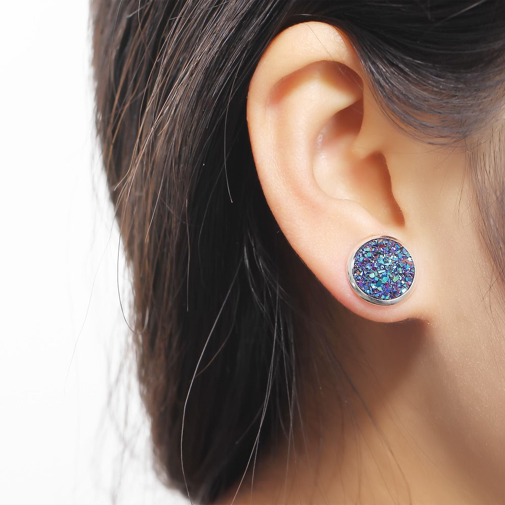 Round Stud Piercing Fish Earring Jewelry - Metfine