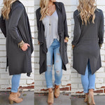 Long Sleeve Knitted Cardigan Outwear Jacket Coat Sweater Top - Metfine