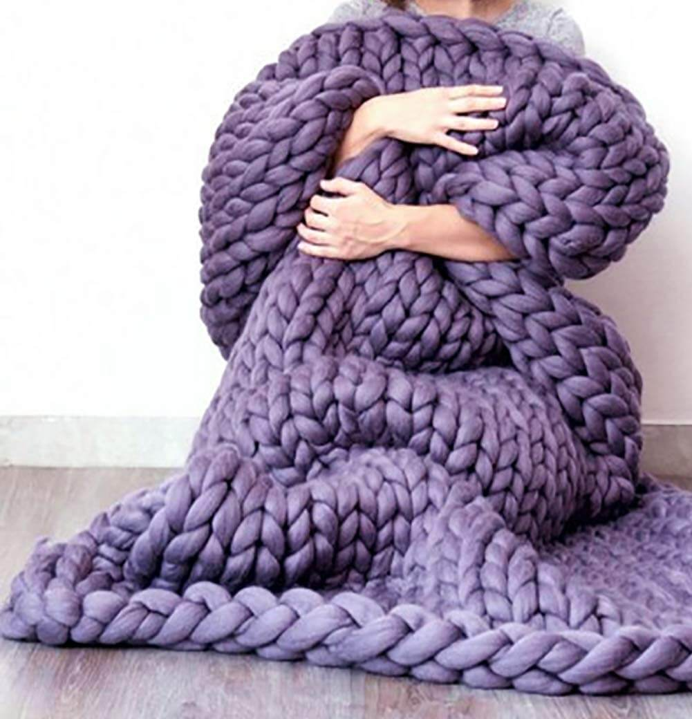 Official Chunky Knitted Blanket - Metfine