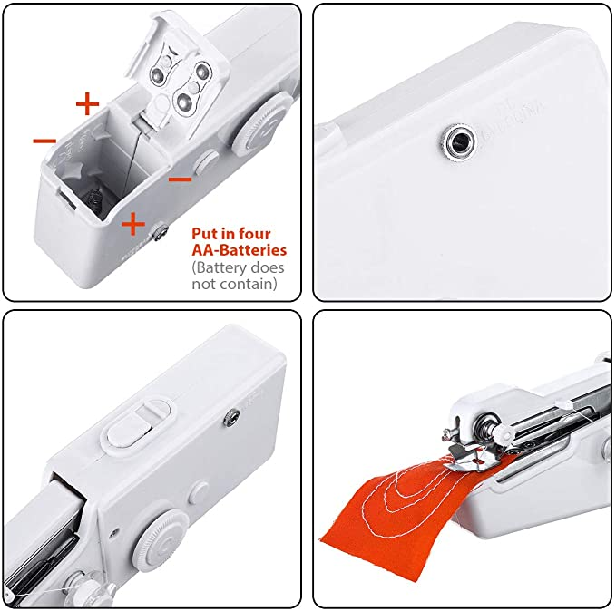 Hand Sewing Machine, Mini Hand-held Portable Sewing Machine - Metfine