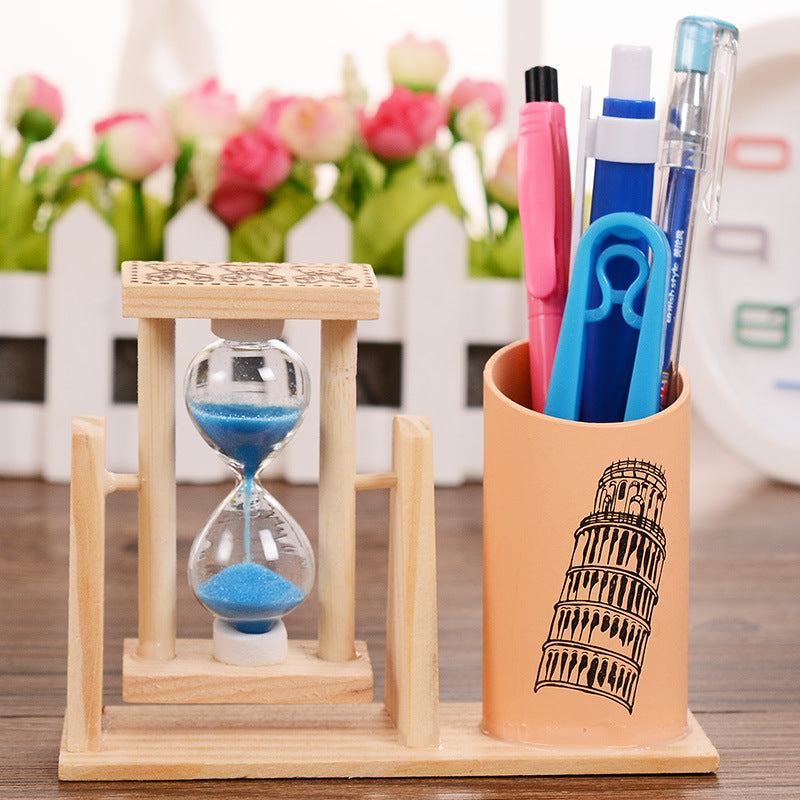 Student gifts rotating hourglass pen holder creative timer decoration - Metfine