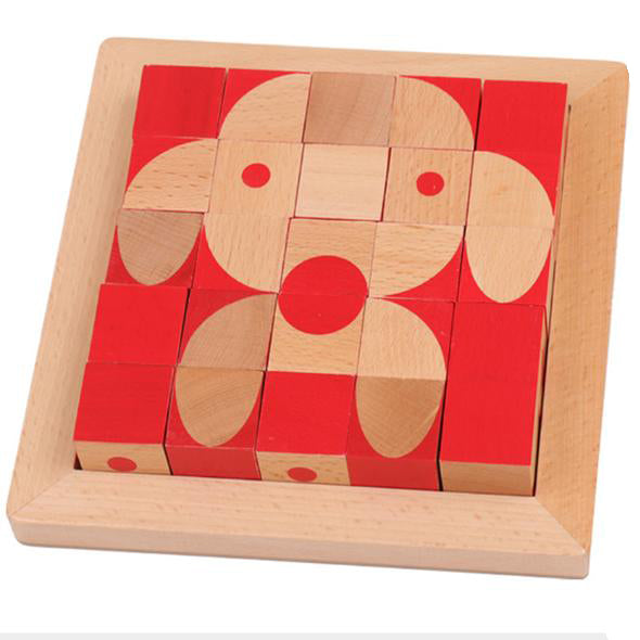 Wooden Puzzles Cube table games 3D stereoscopic Toy - Metfine