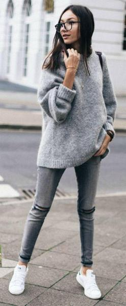Laze knit sweater - Metfine