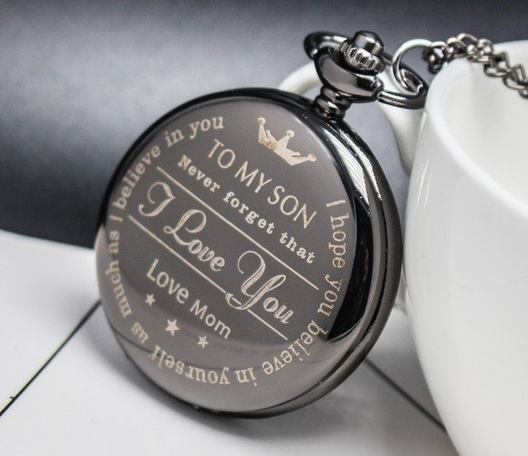 TO MY SON love MOm Pendant Pocket Watch - Metfine