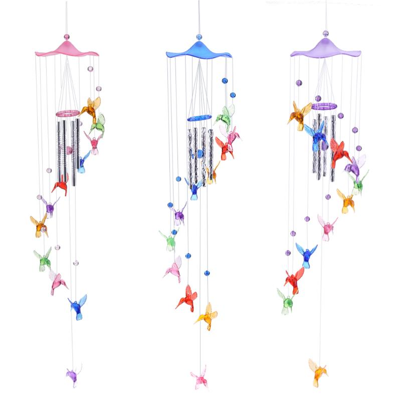 Creative Lucky Humming Bird Wind Chimes Bells Hanging Gifts Dreamcatcher Pendant Wall Home Car Decor Garden Window Decoration - Metfine