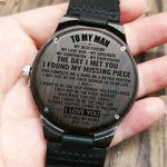 WOODEN WATCHES - TO MY MEN I LOVE YOU PERSONALIZED GIFTS - Metfine