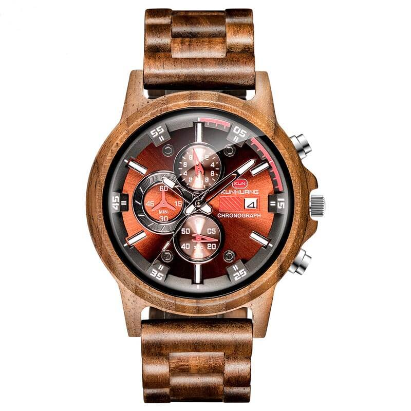 Wooden watches - Walnut - Metfine
