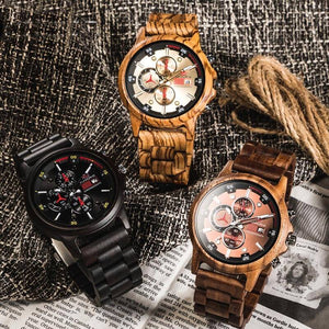 Wooden watches - Zebra