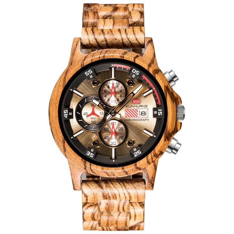 Wooden watches - Zebra - Metfine