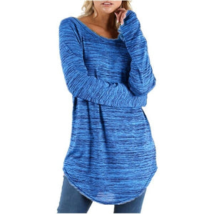 Loose Shirt Irregular Slim Long Sleeve T-Shirt - Metfine
