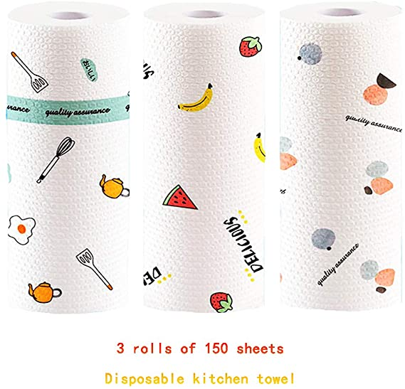 Multipurpose Kitchen Paper | Disposable Rag | Lazy Rag | Cleaning Paper Towels - Metfine