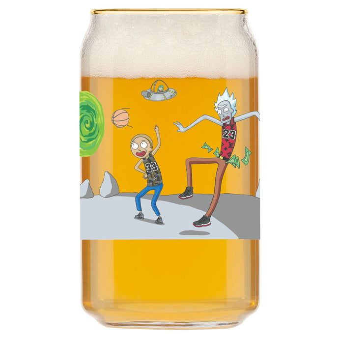 That Rick Jordan Morty Pippen Glass by George Rollo